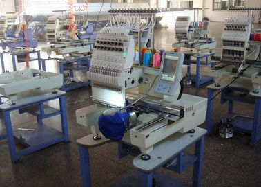 China Single Head Computerized Embroidery Machine For Cap / Flat / T - Shirt / Shoes supplier