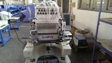 China Self Adaptable Voltage Single Head Multi Needle Machine For Flat Bed / Cap / Hat supplier