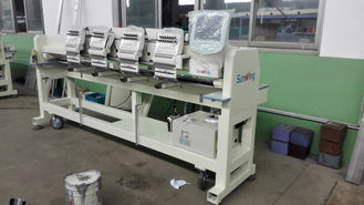 China Computerized 4 Head Embroidery Machine , Hat Embroidery Machine Max Speed 850 RPM supplier