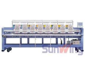 China 15 Needles Tubular Embroidery Machine 8 Head With LCD Screen CT1508 supplier