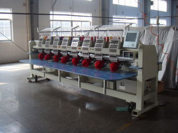 China Commercial Computerized 8 Head Embroidery Machine With 270° Wide Cap Frame Unit supplier