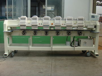 China Flat Bed / Finished Garments / Cap Embroidery Machine 6 Head With Automatic Thread Trimmer supplier