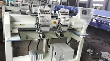 China 9 / 12 / 15 Needle Cap Embroidery Machine , Cloth Embroidery Machine With Servo Motor supplier