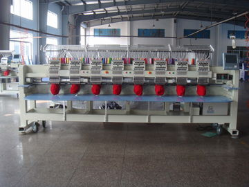 China Digital Embroidery Machine 12 Needle , Multi Thread Embroidery Machine 8 Head  supplier
