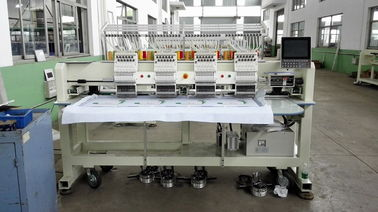 China 50 / 60Hz Flat Bed / Cap Embroidery Machine , 3d Embroidery Machine With Germany Engineering supplier