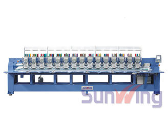 China 9 Needle 15 Head Flat Embroidery Machine For Shoes / T - Shirts  supplier