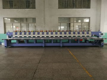 China Computerized Operation Flat Embroidery Machine 18 Heads 9 Colors supplier