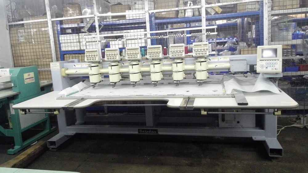 Used Embroidery Machines >> One Phase Used Barudan 6 Head Embroidery Machine 9 Needles Bevy Y906