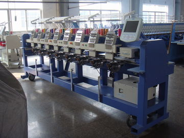 China 9 Needle Flat / Hat /  Tubular Embroidery Machine With Fast Data Transmission distributor