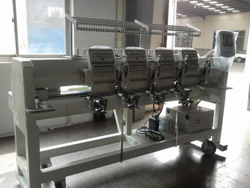 China Tubular 4 Head Embroidery Machine For Caps / Leather Products 400 X 450 Mm  distributor