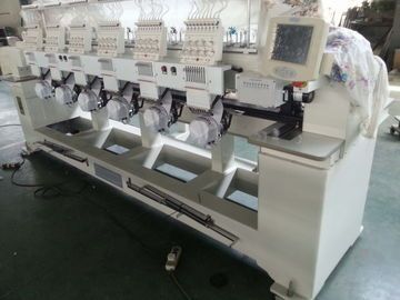 China 6 Heads Tubular Embroidery Machine For Backpacks / Sweat Suits factory