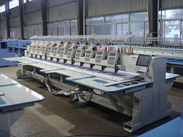 China Commercial Computerized Embroidery Machine For Flat Bed 12 Heads distributor
