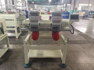 China Compact Two Head Embroidery Machine For Garment With Thready Holding System distributor