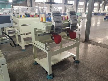 China Double Heads Flat Embroidery Machine For Clothing High Precision In Driving distributor