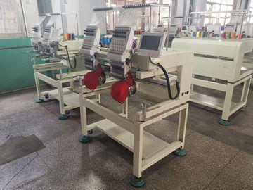 China Touch Screen LCD Two Head Embroidery Machine For Flat + Cap + T - Shirt distributor