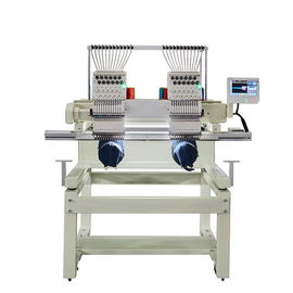 China Multi Function Computerized Embroidery Machine With 2 Heads  Single Phase 220V distributor