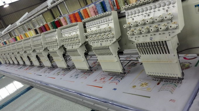 15 Head Cross Stitch Embroidery Machine High Speed 16000000 Stitches Memory capacity