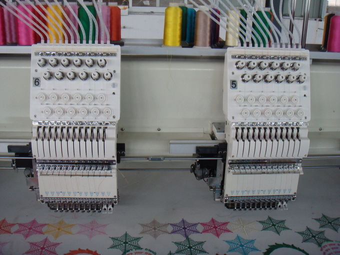 High Speed Computerized Embroidery Machine With 16 Heads 12 Needles