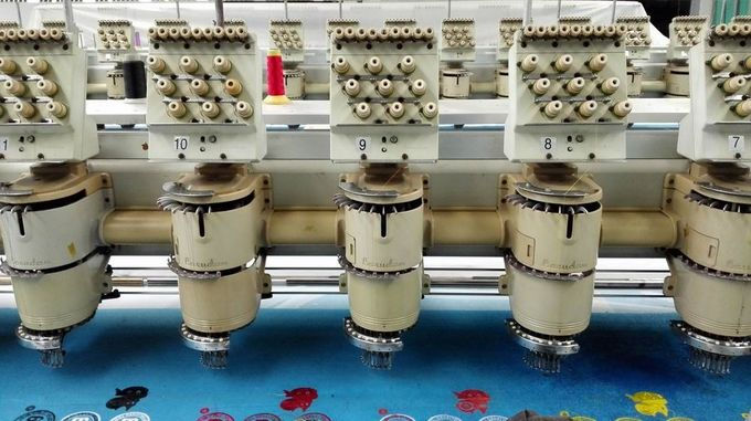 Barudan 20 Heads Used Commercial Embroidery Machines 9 Needles