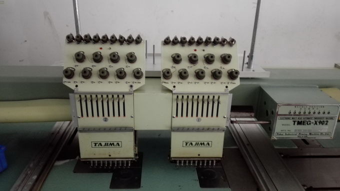 Multi Needle Used Tajima Embroidery Machine 2 Heads 9 Needles 3 Phases