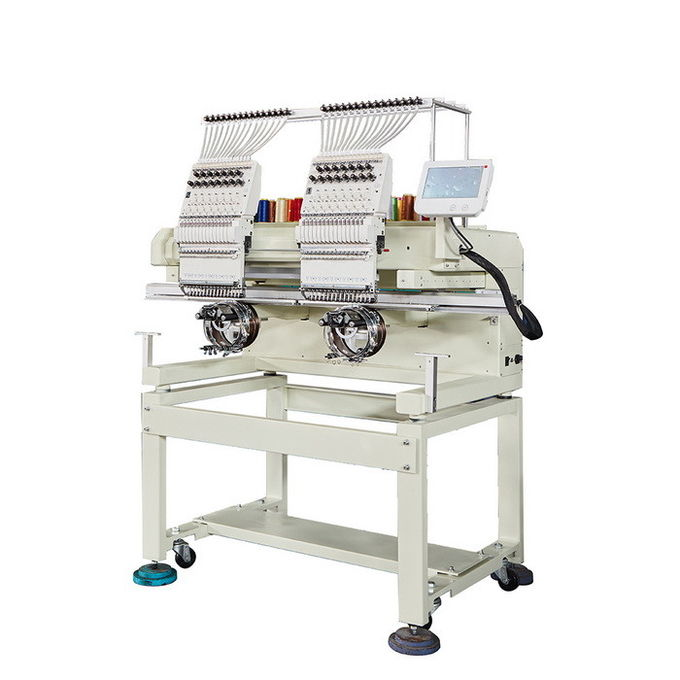 Multi Function Computerized Embroidery Machine With 2 Heads  Single Phase 220V